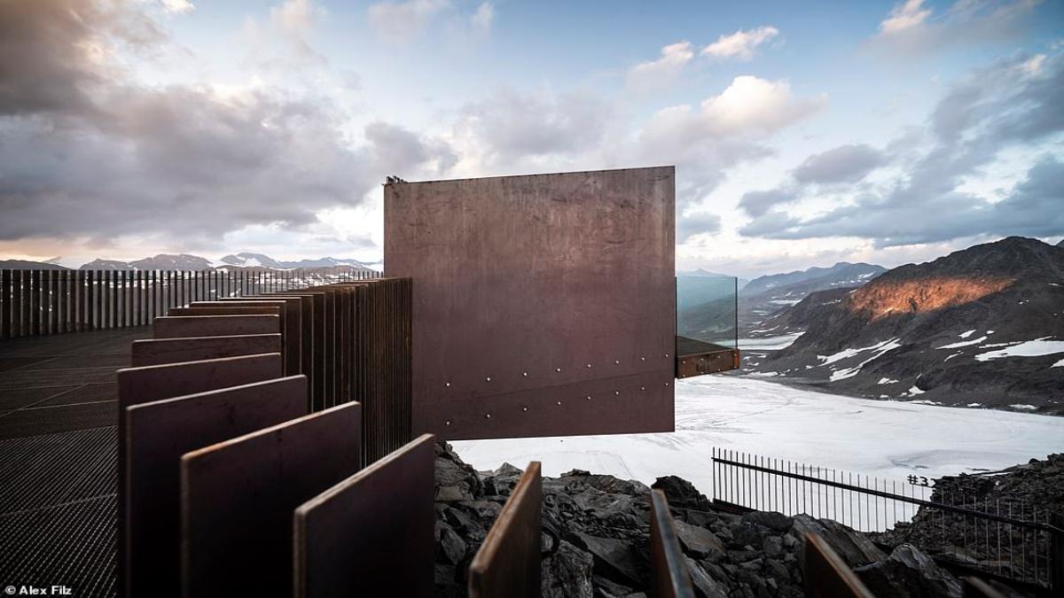 Otzi Peak πλατφόρμα παρατήρησης Άλπεις μπαλκόνι από γυαλί