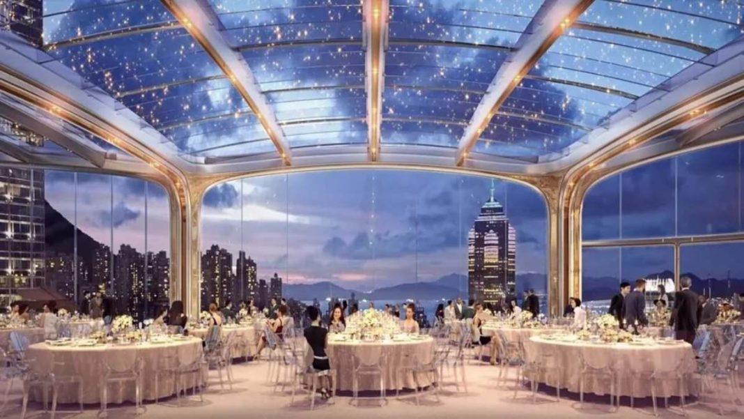 Ουρανοξύστης ορχιδέα Χονγκ Κονγκ εστιατόριο με θέα