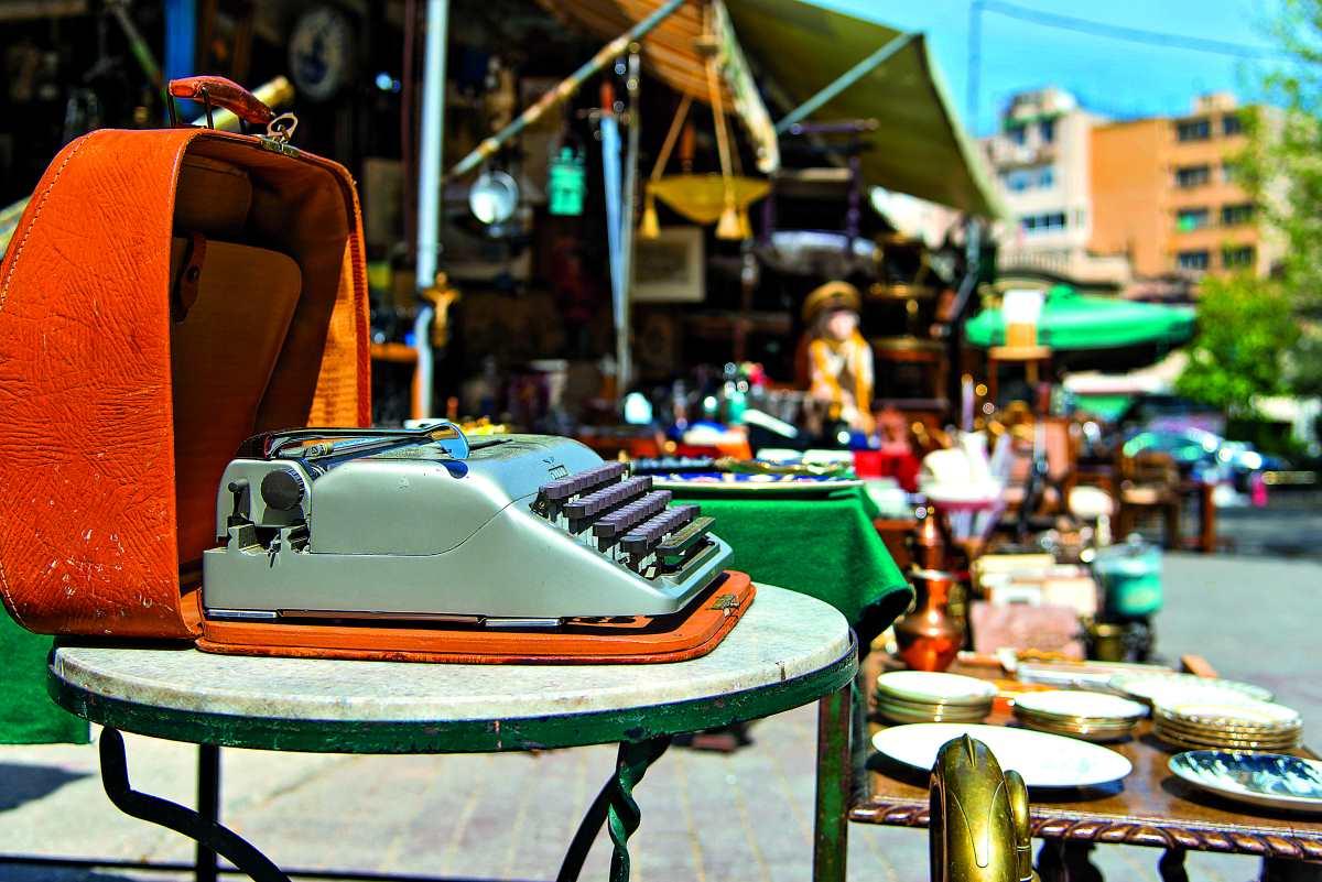 Πλατεία Αβησσυνίας, παλιά γραφομηχανή