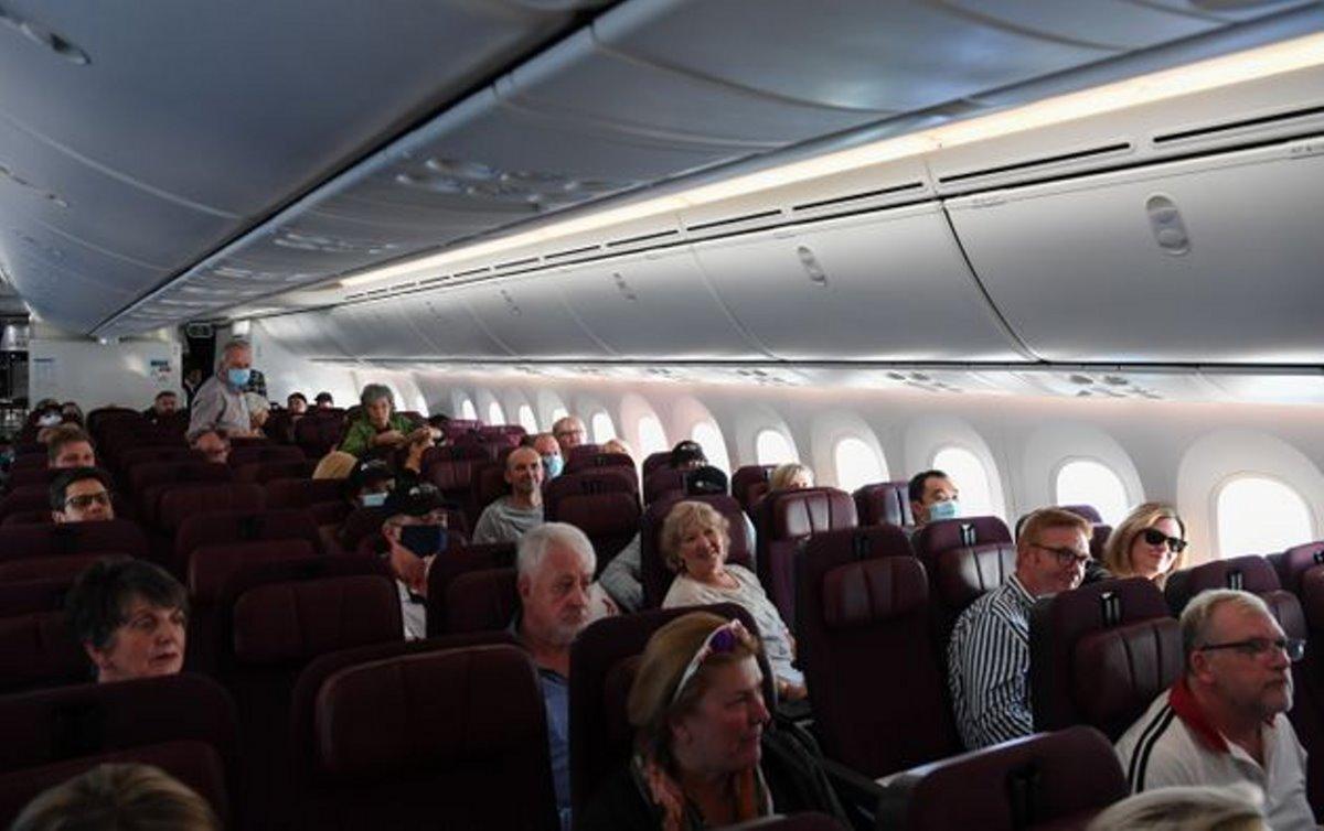 Qantas πτήση στο πουθενά επιβάτες μέσα στο αεροπλάνο