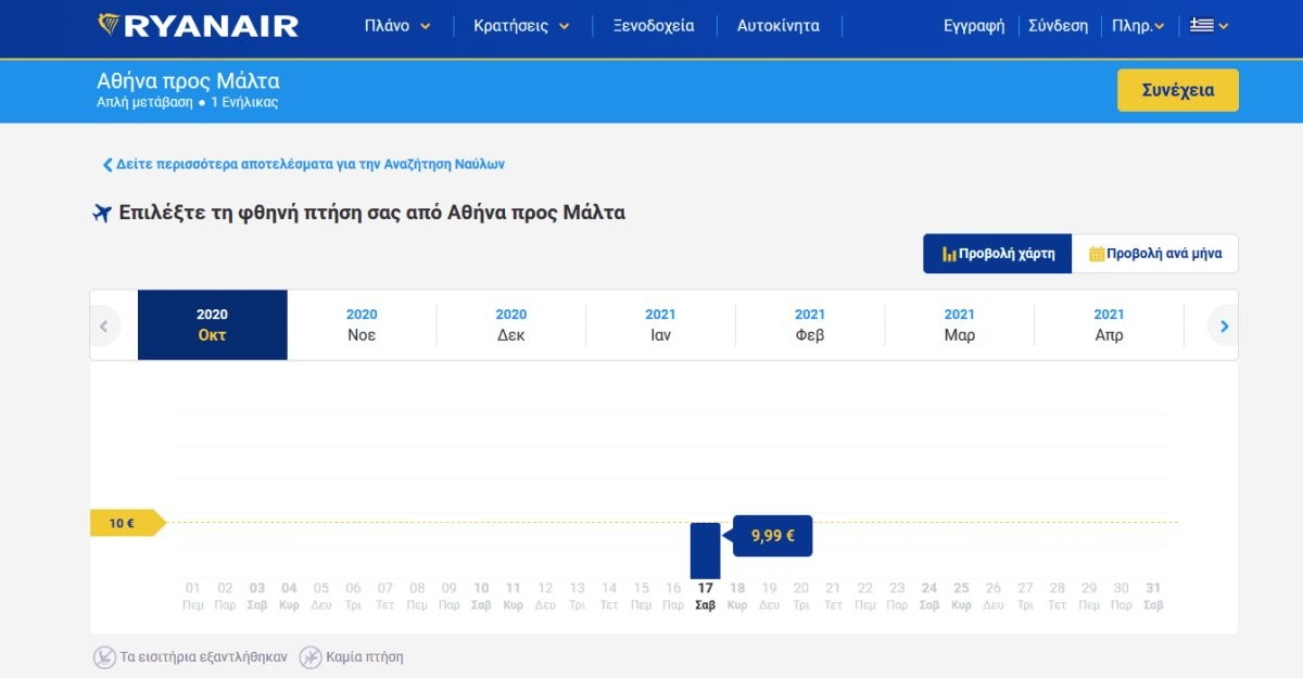 Ryanair: Νέα προσφορά για 200.000 πτήσεις σε τιμές κόστους! Μόνο για 24 ώρες!