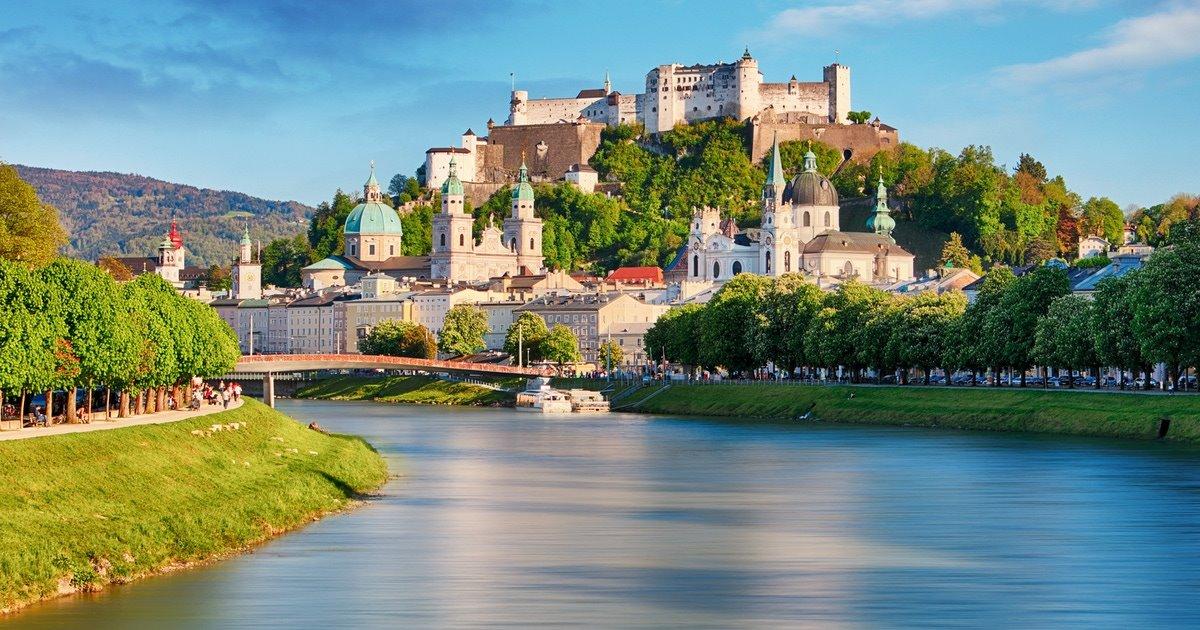 Σάλτσμπουργκ Αυστρία μικρότερη καλύτερη πόλη ποτάμι