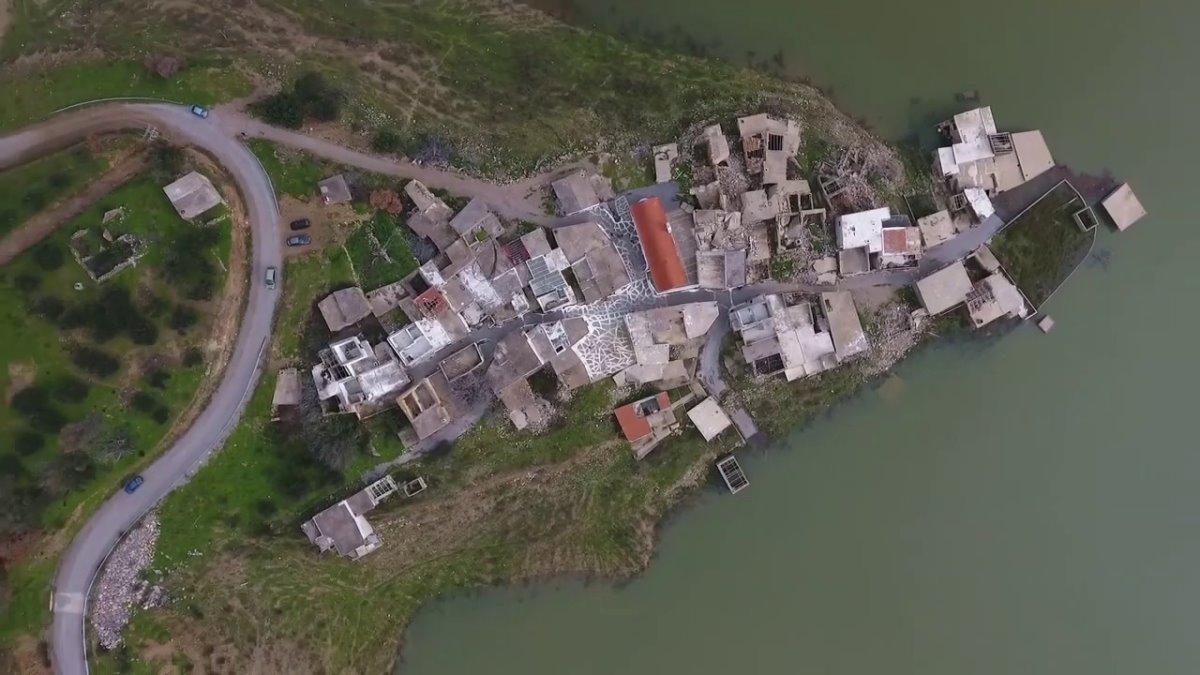 Σφενδύλι χωριό Κρήτης βυθισμένο πανοραμική