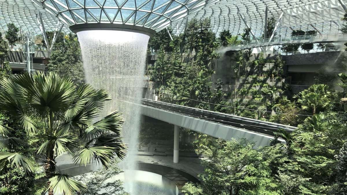 αεροδρόμιο σιγκαπούρης jewel κήπος