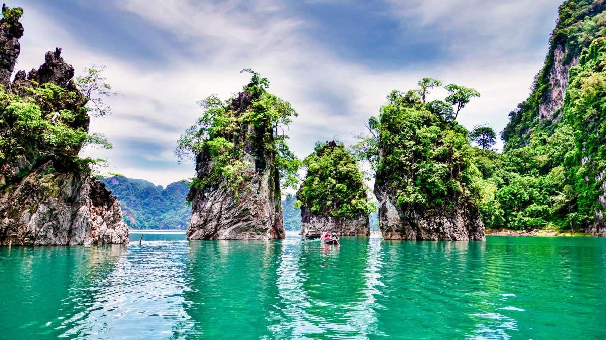Ταϊλάνδη βράχια θάλασσα