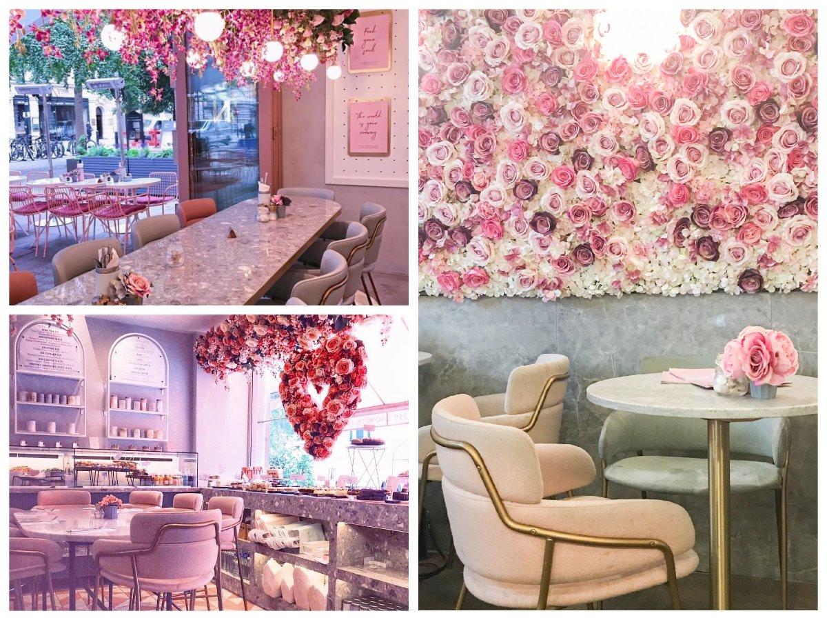 Θεματικό cafe Αθήνα Ellyz Athens εσωτερικό κολάζ