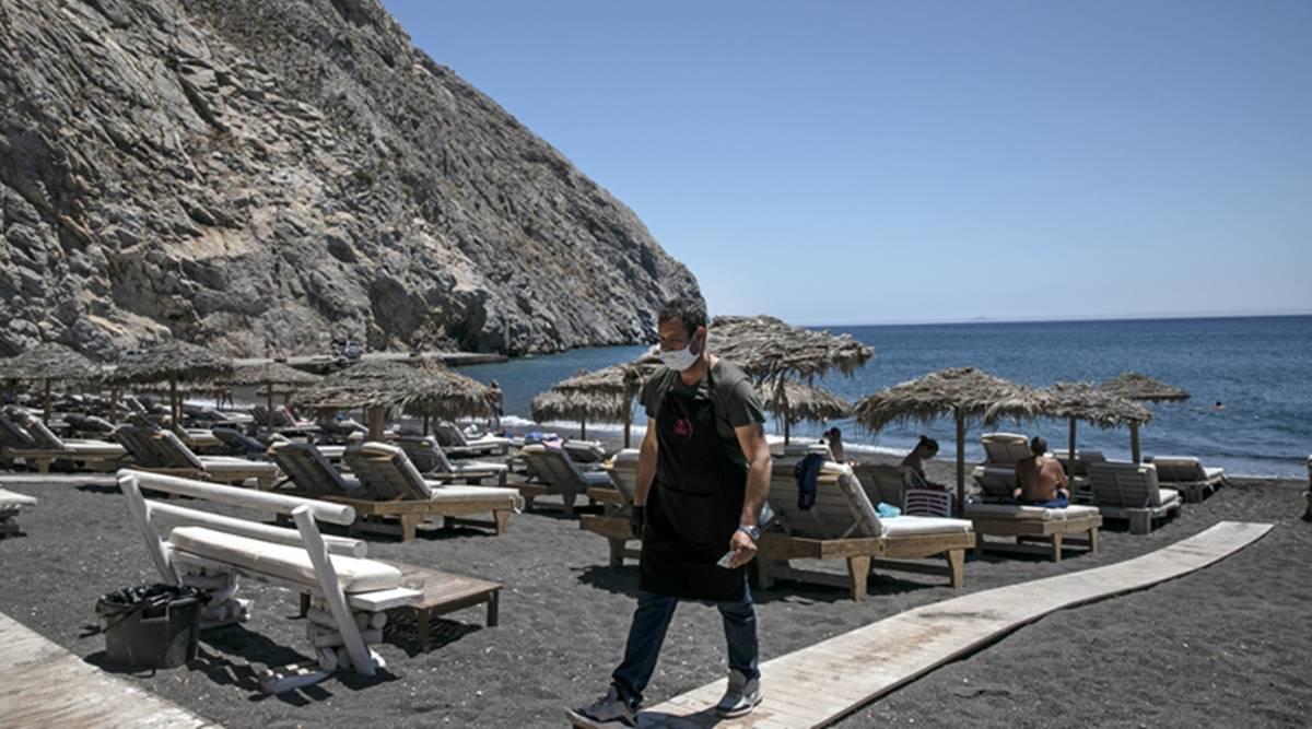 Ελλάδα παραλία ομπρέλες