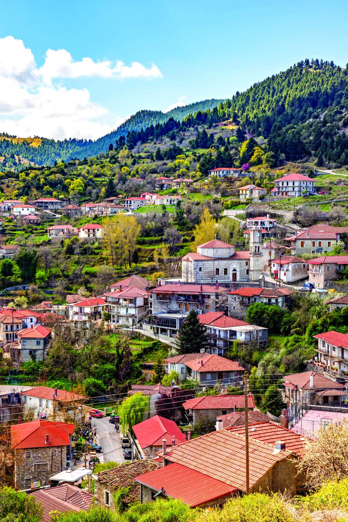 Βαλτεσίνικο, πανοραμική άποψη του χωριού