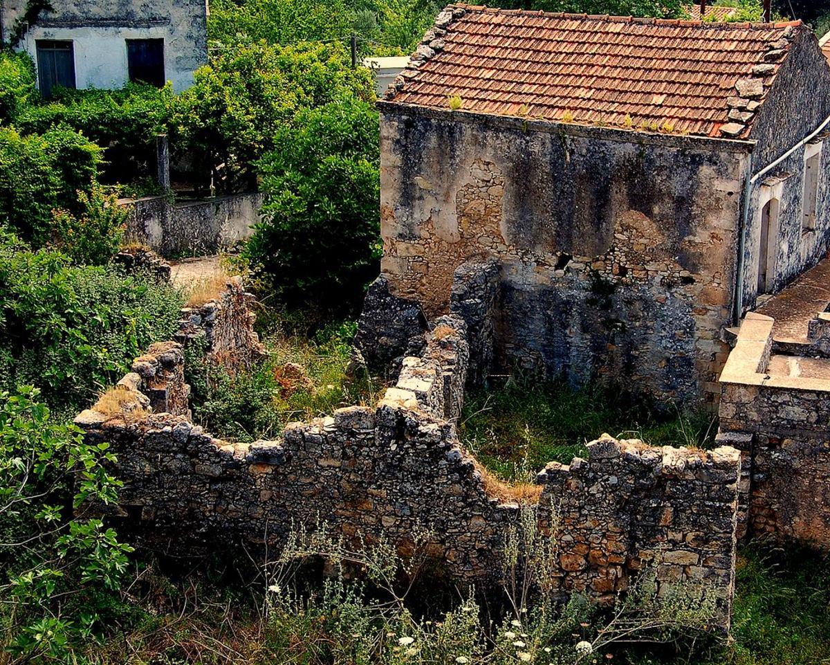 Βάμος Χανιά χωριό παλιό πέτρινο σπίτι