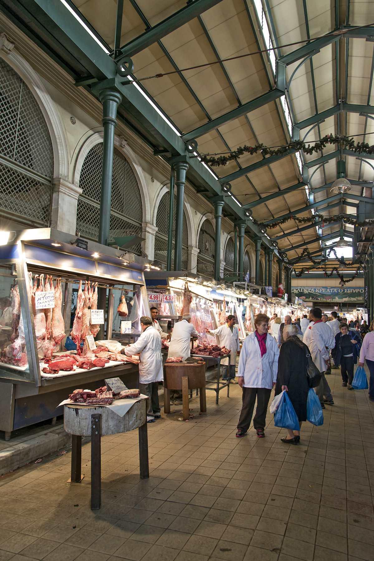 Βαρβάκειος Αγορά, κρεοπωλεία