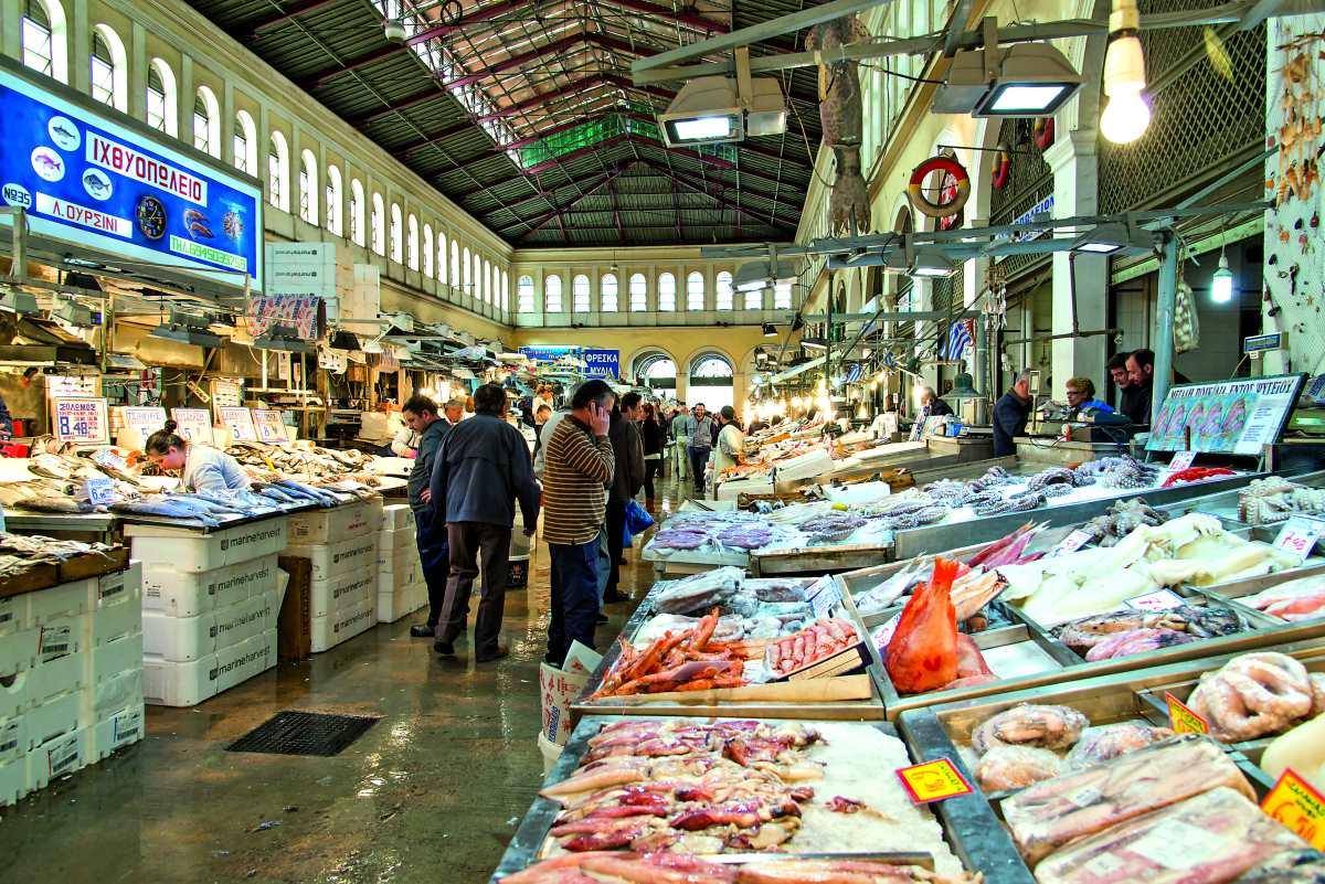 Βαρβάκειος Αγορά, ψαράδικα