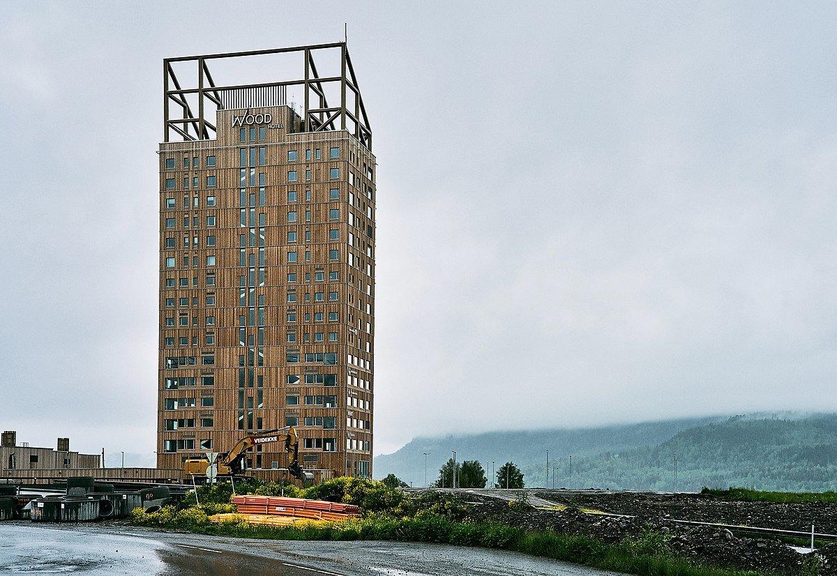 Ξύλινος ουρανοξύστης ψηλότερος στο Όσλο κοντινό
