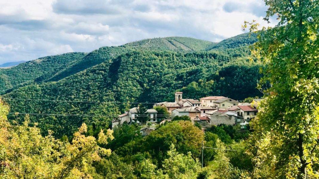 Χωριό Nortosce Ιταλία πανοραμική