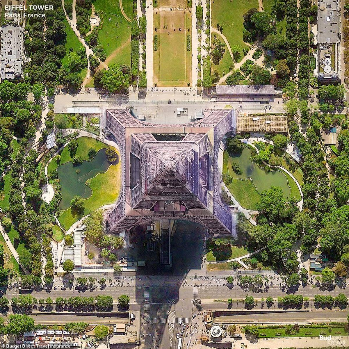 Ο Πύργος του Άιφελ από ψηλά, Παρίσι
