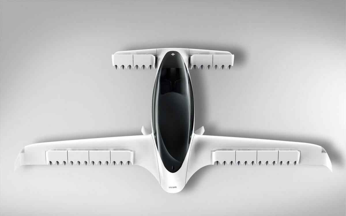 Ιπτάμενο ΤΑΧΙ όπως είναι η κατασκευή του από ψηλά
