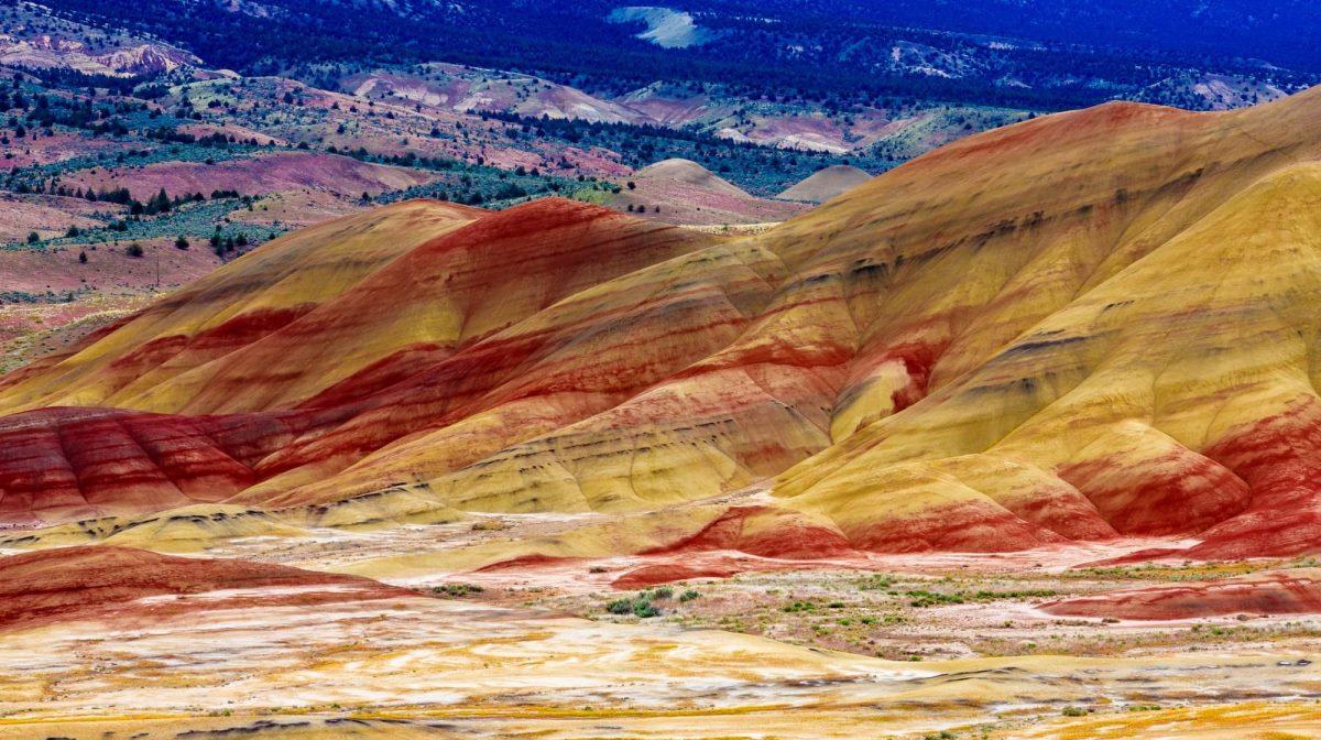 Οι πολύχρωμοι λόφοι στο Όρεγκον