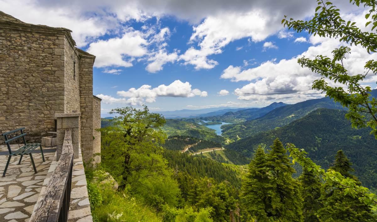 Θέα από την Ι.Μ. Παναγίας Πελεκητής ή Παναγία των Βράχων