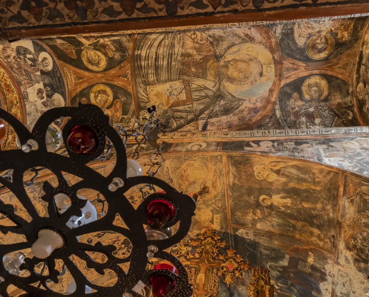 Ι.Μ. Παναγίας Πελεκητής ή Παναγία των Βράχων, τοιχογραφίες