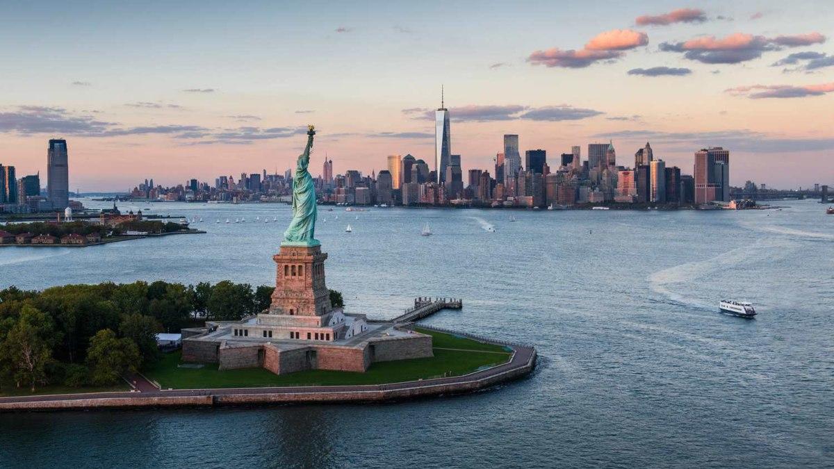 Άγαλμα της Ελευθερίας, ΗΠΑ, εναέρια λήψη