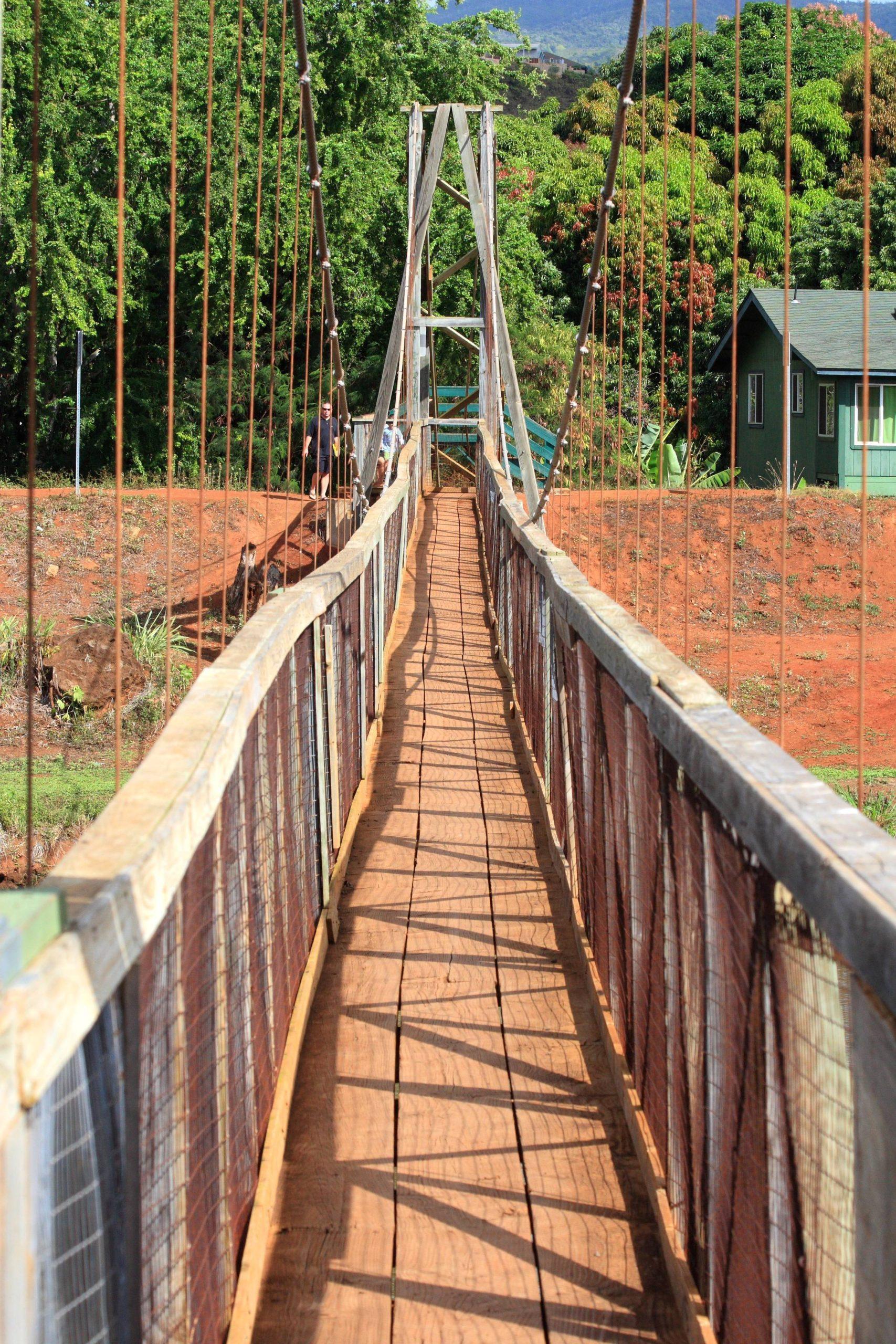 H ιστορική κρεμαστή γέφυρα Kapaia που ξανάνοιξε