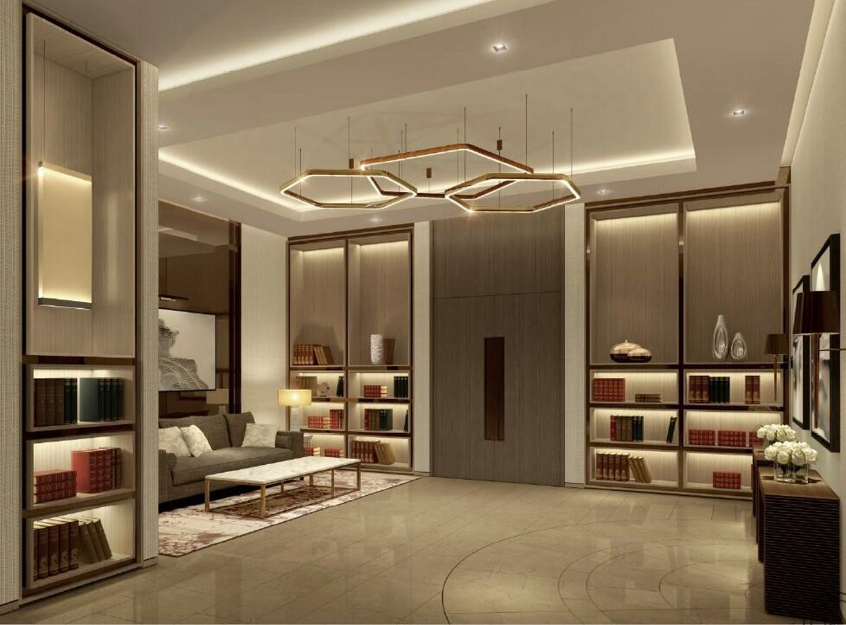 Address Hotel Ντουμπάι δωμάτιο και καθιστικό