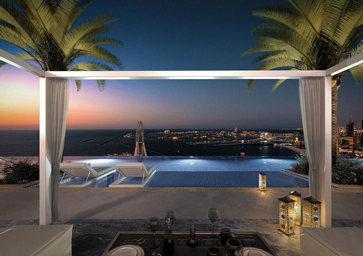 Address Hotel Ντουμπάι πανοραμική στην ψηλότερη πισίνα υπερχείλισης