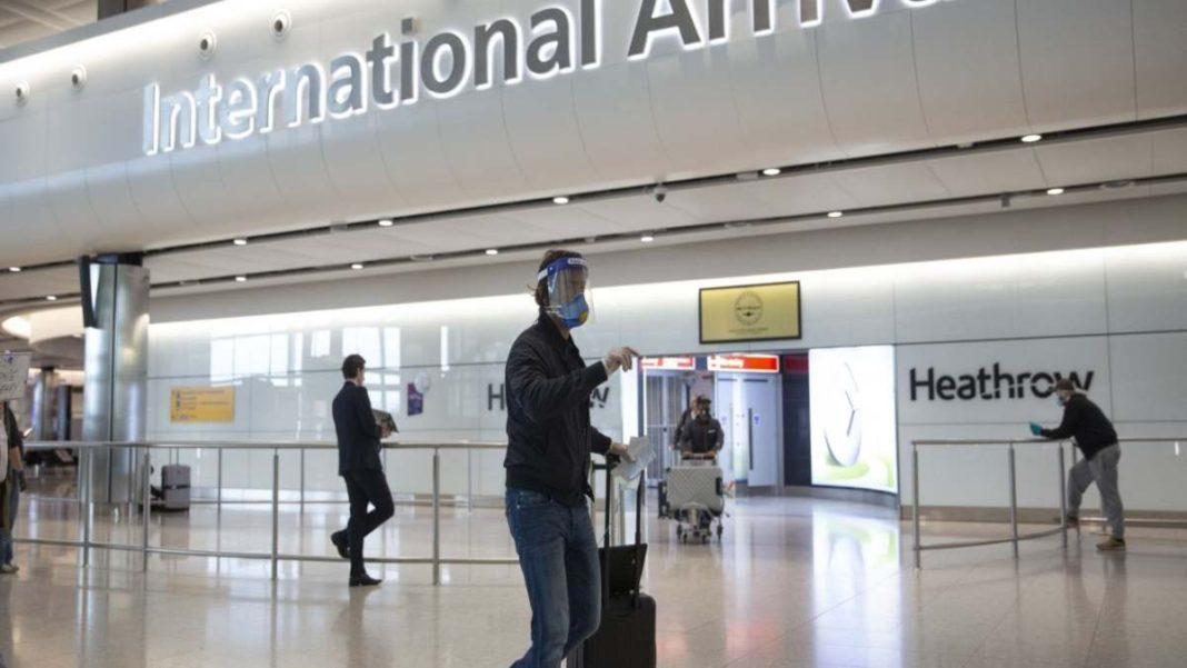 Αεροδρόμιο Χίθροου Λονδίνο πολυσύχναστο επιβάτες