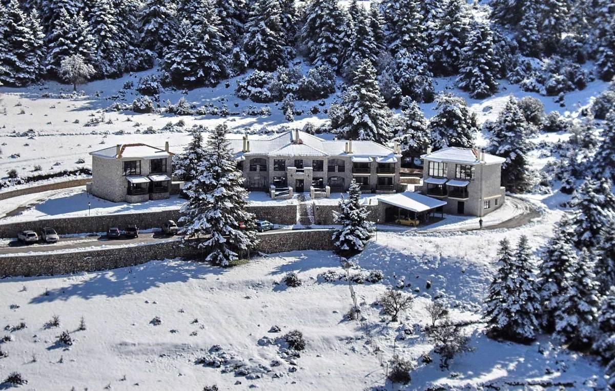 Αέσκω resort Βυτίνα, χιονισμένο τοπίο