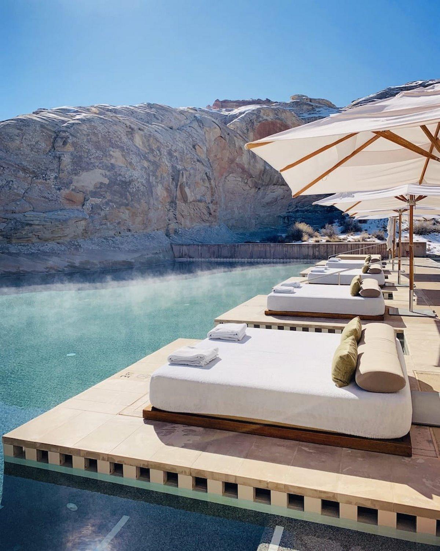 Amangiri Ξενοδοχείο με πισίνα γύρω από τον βράχο