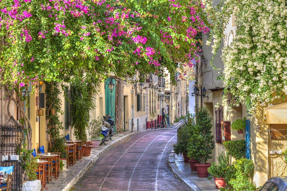 σοκάκι στην Πλάκα στην Αθήνα