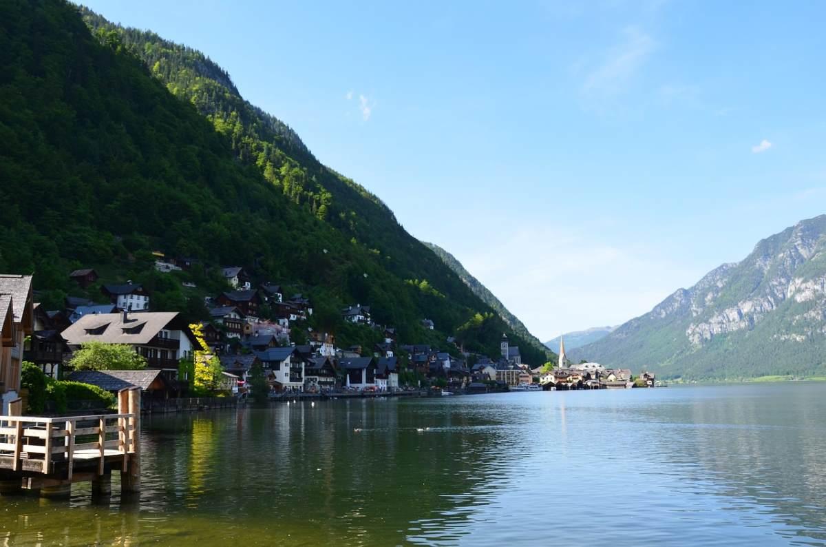 Η λίμνη στο Χάλστατ, Αυστρία