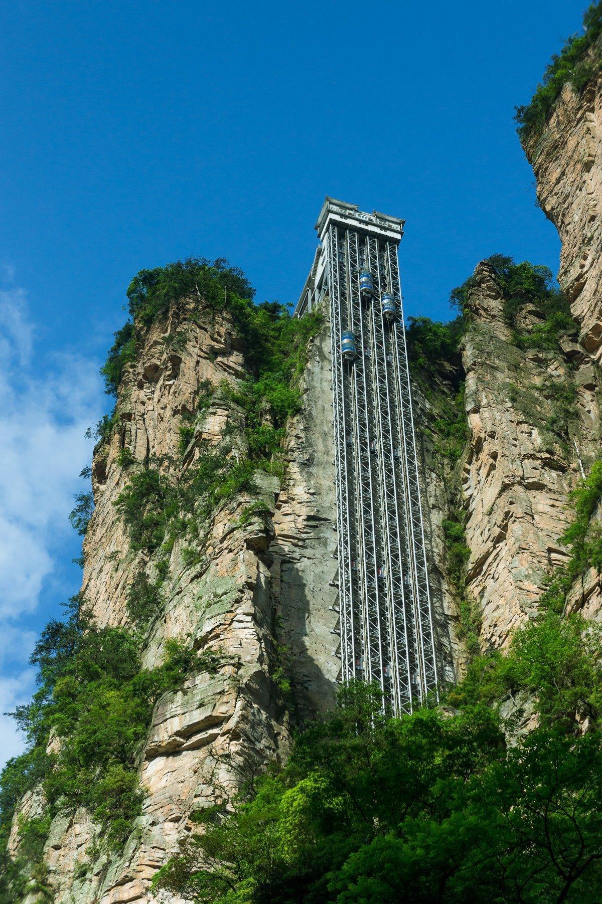 Bailong ασανσέρ στην Κίνα το ψηλότερο στον κόσμο