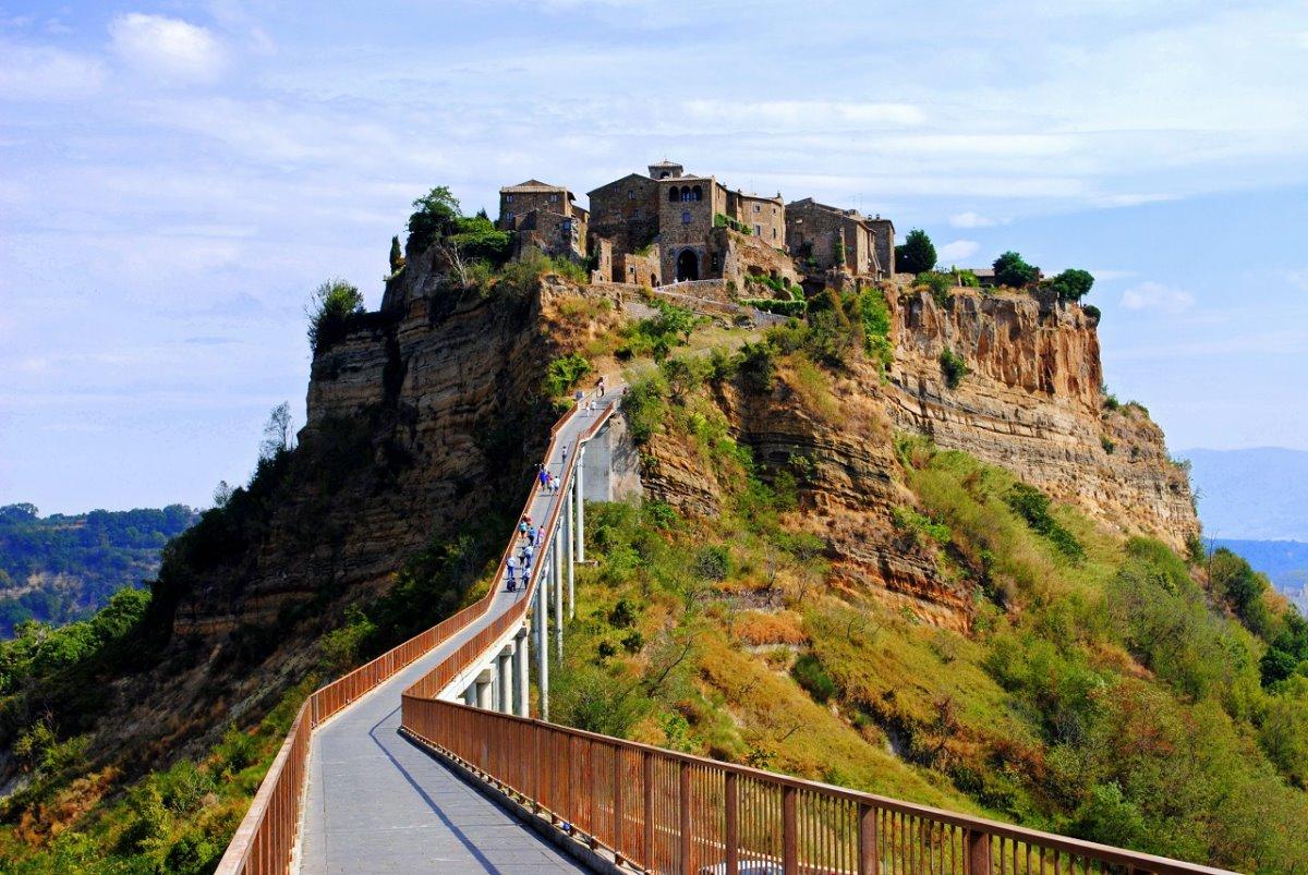 Civita di Bagnoregio χρεώνει είσοδο στην πόλη πανοραμική