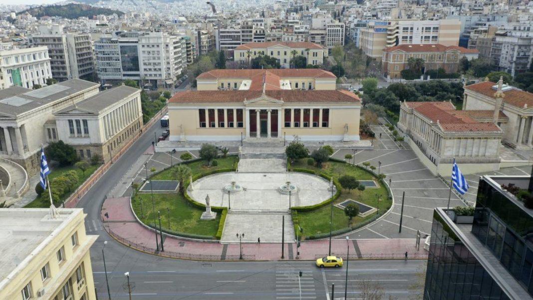 Άδειοι δρόμοι στην Αθήνα στο lockdown