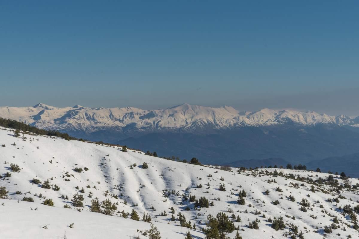 Διαδρομή προς το Βραδέτο, οι χιονισμένες πλαγιές