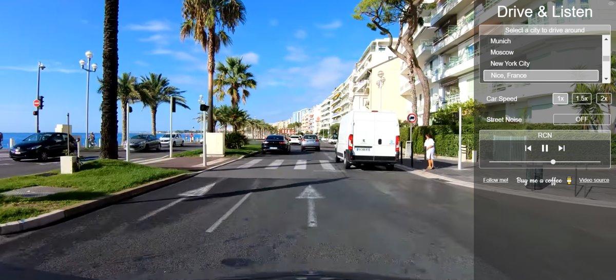 drive and listen εικονικό ταξίδι με αυτοκίνητο στη Νίκαια της Γαλλίας