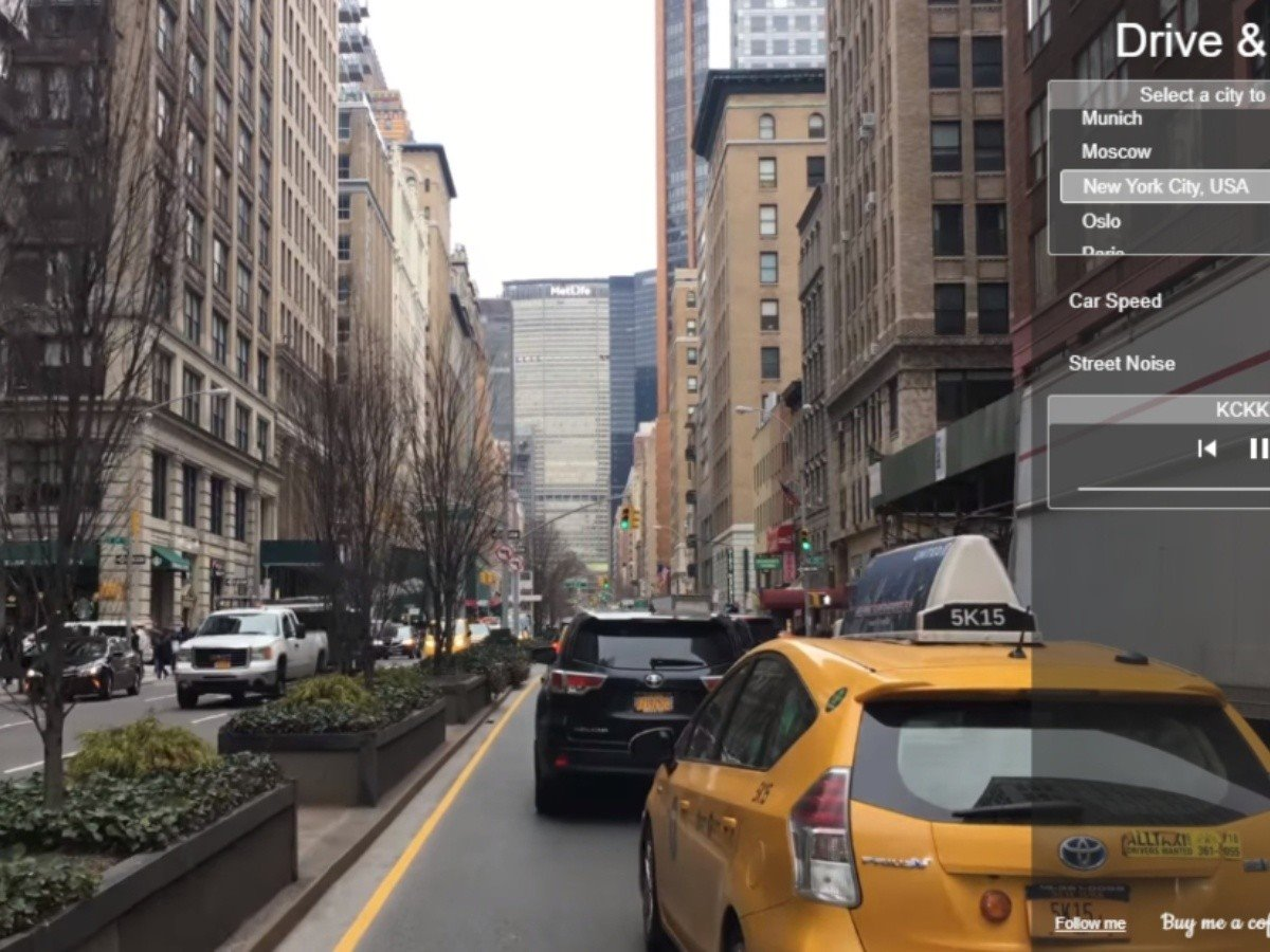 drive and listen εικονικό ταξίδι με αυτοκίνητο στη Νέα Υόρκη