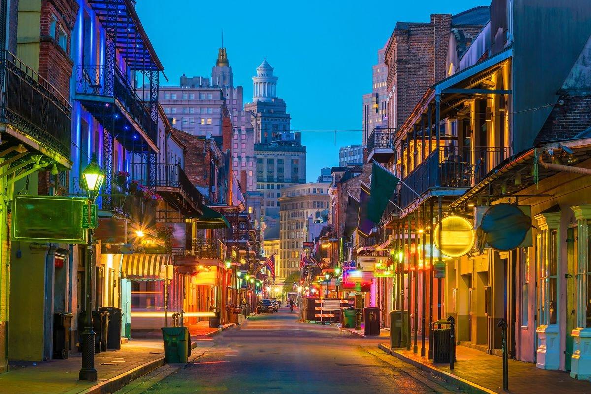 Διάσημος δρόμος στην Αμερική ο Bourbon Street