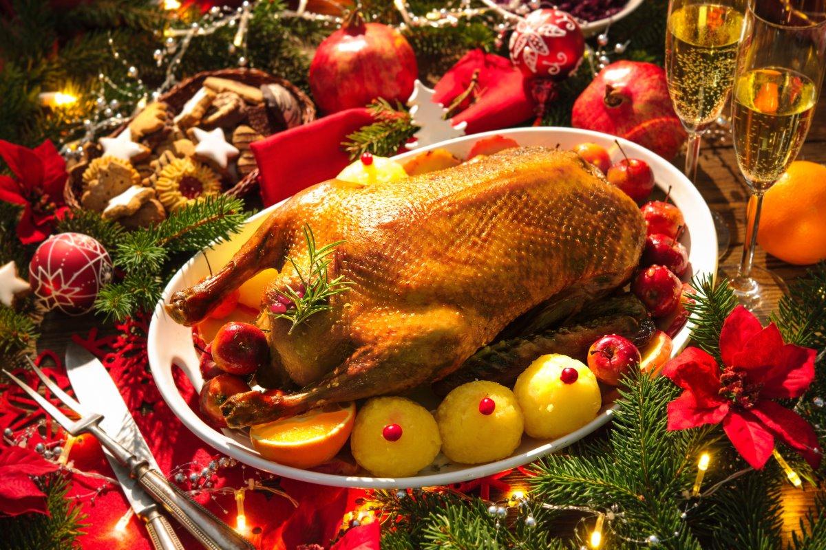 Πάπια χριστουγεννιάτικο πιάτο
