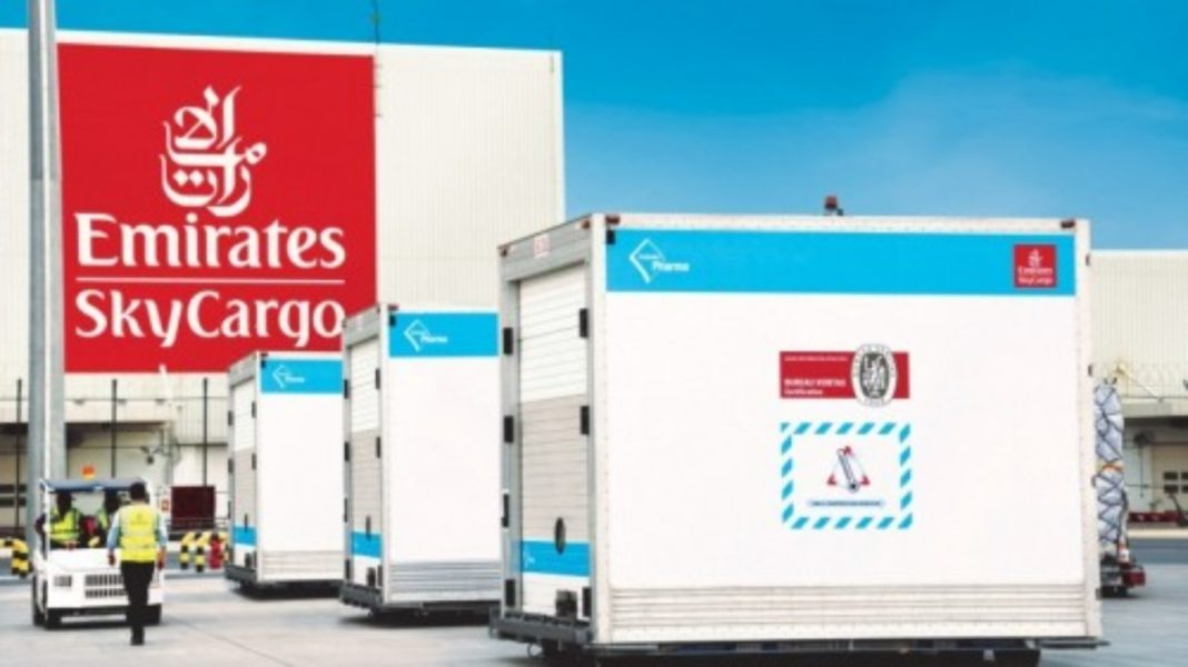 Emirates Sky Cargo για μεταφορά εμβολίου Covid 19