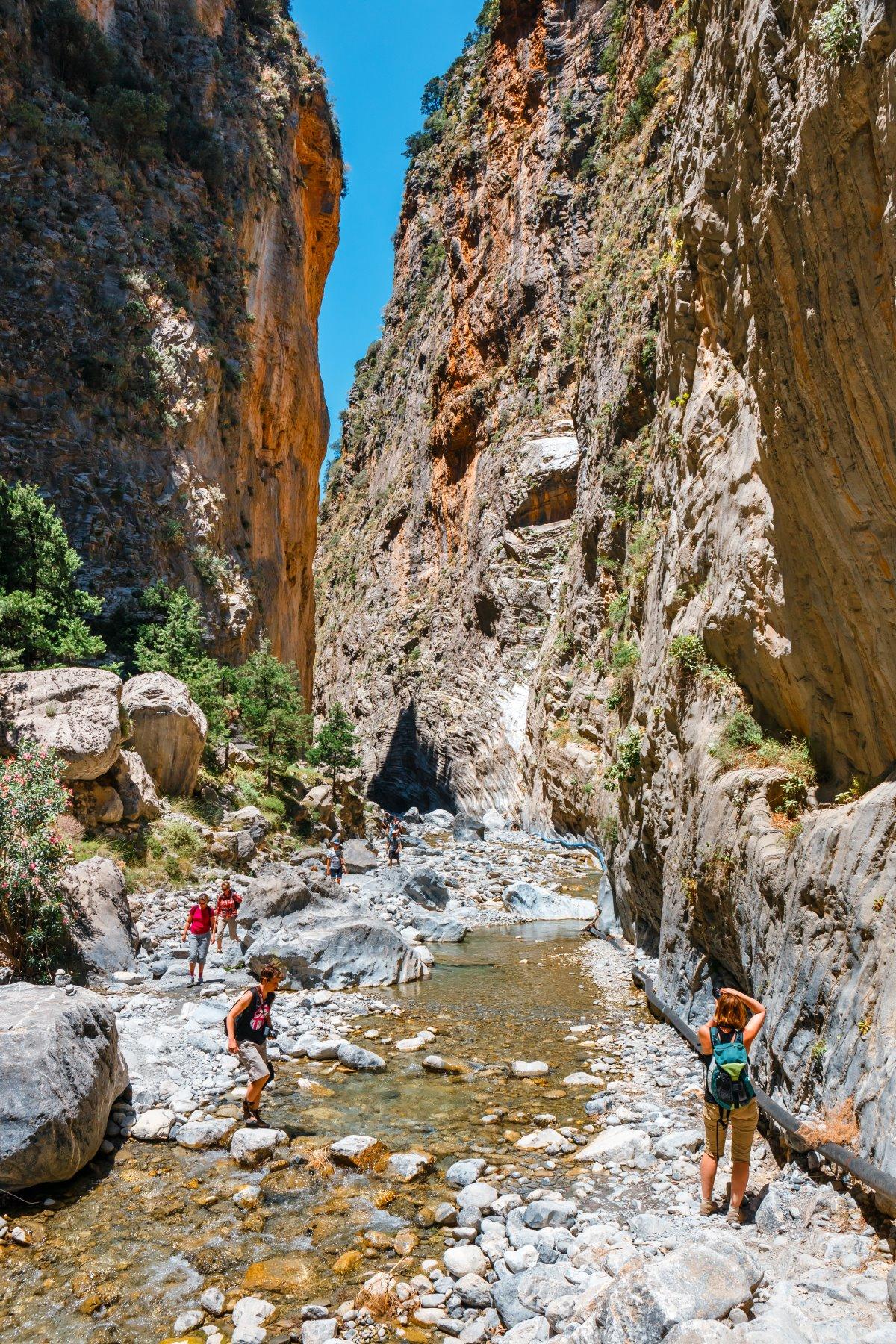 Φαράγγι Σαμαριάς Κρήτη δημοφιλής προορισμός τουριστών
