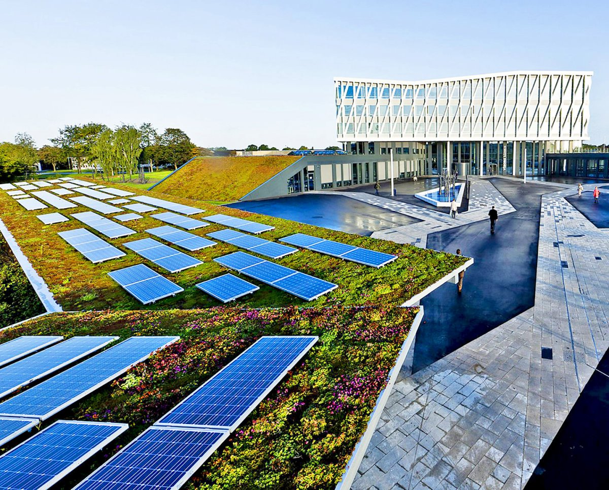 πράσινη ταράτσα σε κτήριο στην Κοπεγχάγη