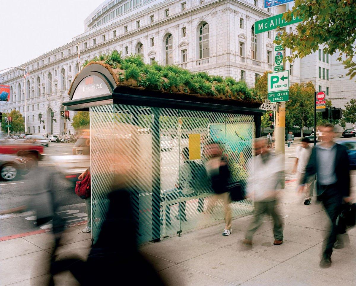 Πράσινη ταράτσα σε στάση στο Σαν Φρανσίσκο