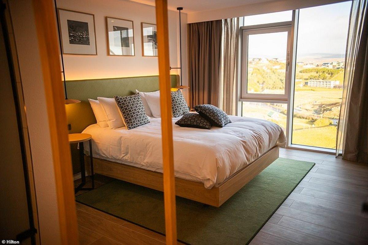 Hilton πράσινο ξενοδοχείο Νησιά Φερόε δίκλινο δωμάτιο
