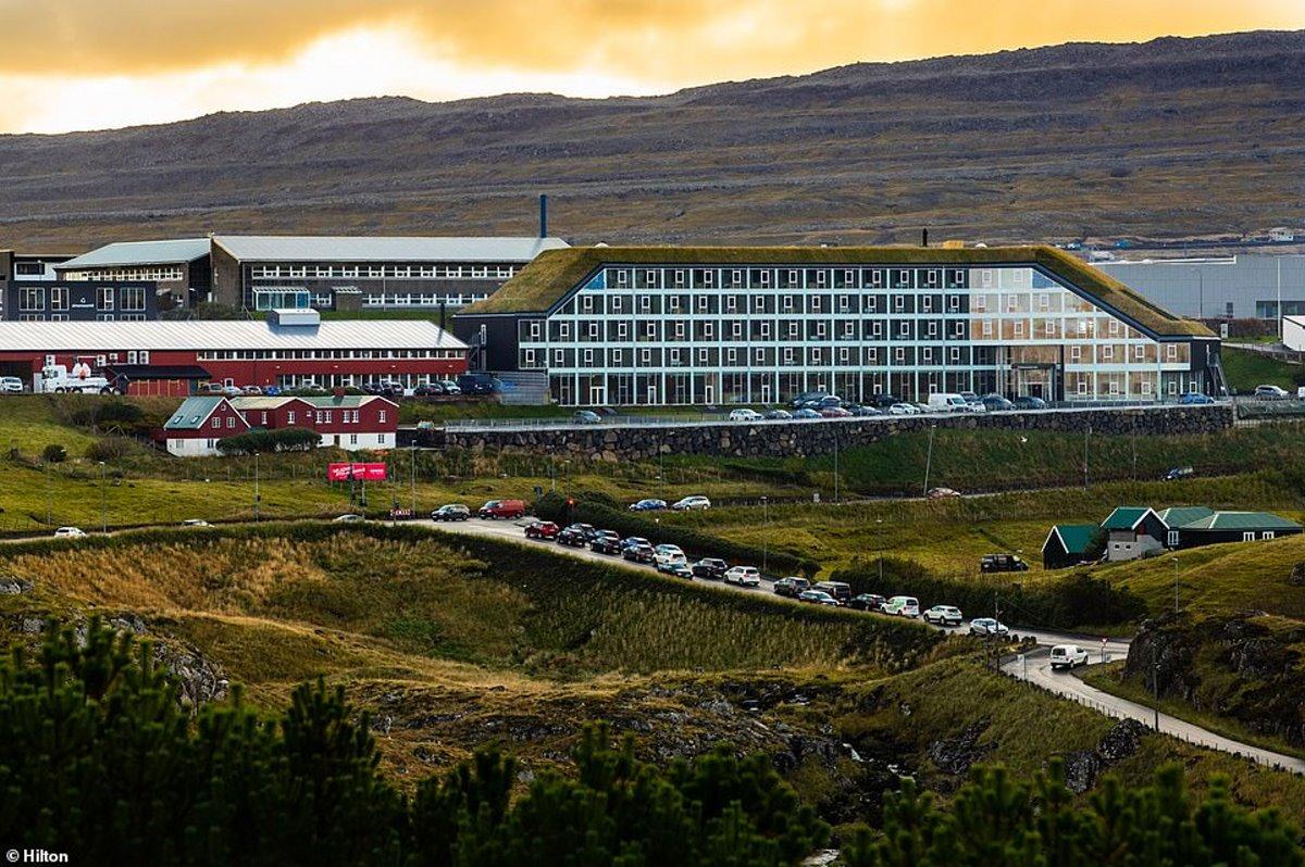 Hilton πράσινο ξενοδοχείο Νησιά Φερόε πανοραμική λήψη
