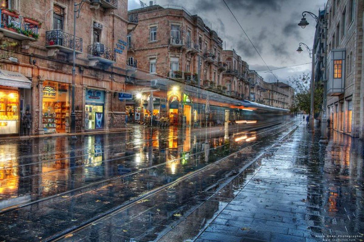 Ιερουσαλήμ πόλη με γοητεία υπέροχες φωτογραφίες από άδειους δρόμους