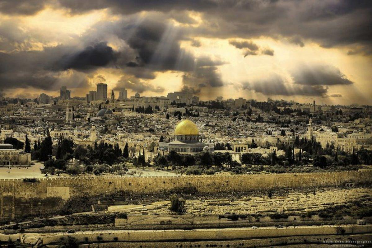 Ιερουσαλήμ πόλη με γοητεία υπέροχες φωτογραφίες μακρινές λήψεις