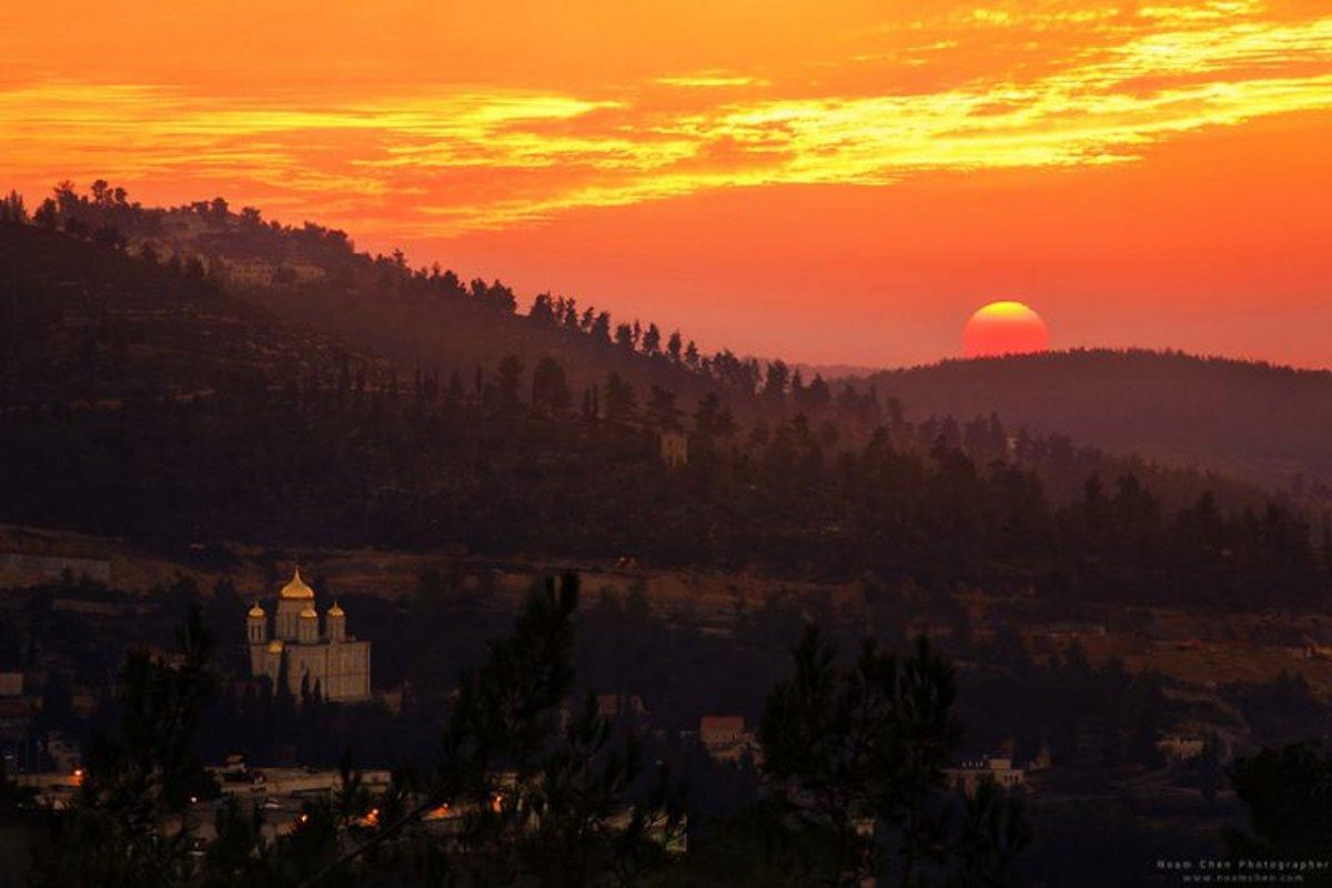 Ιερουσαλήμ πόλη με γοητεία υπέροχες φωτογραφίες από το ηλιοβασίλεμα