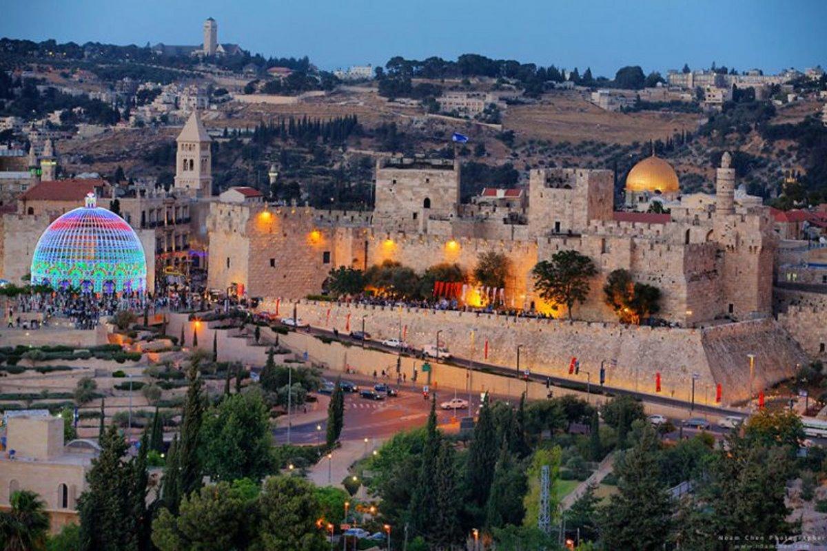 Ιερουσαλήμ πόλη με γοητεία υπέροχες φωτογραφίεςαπό την παλιά πόλη