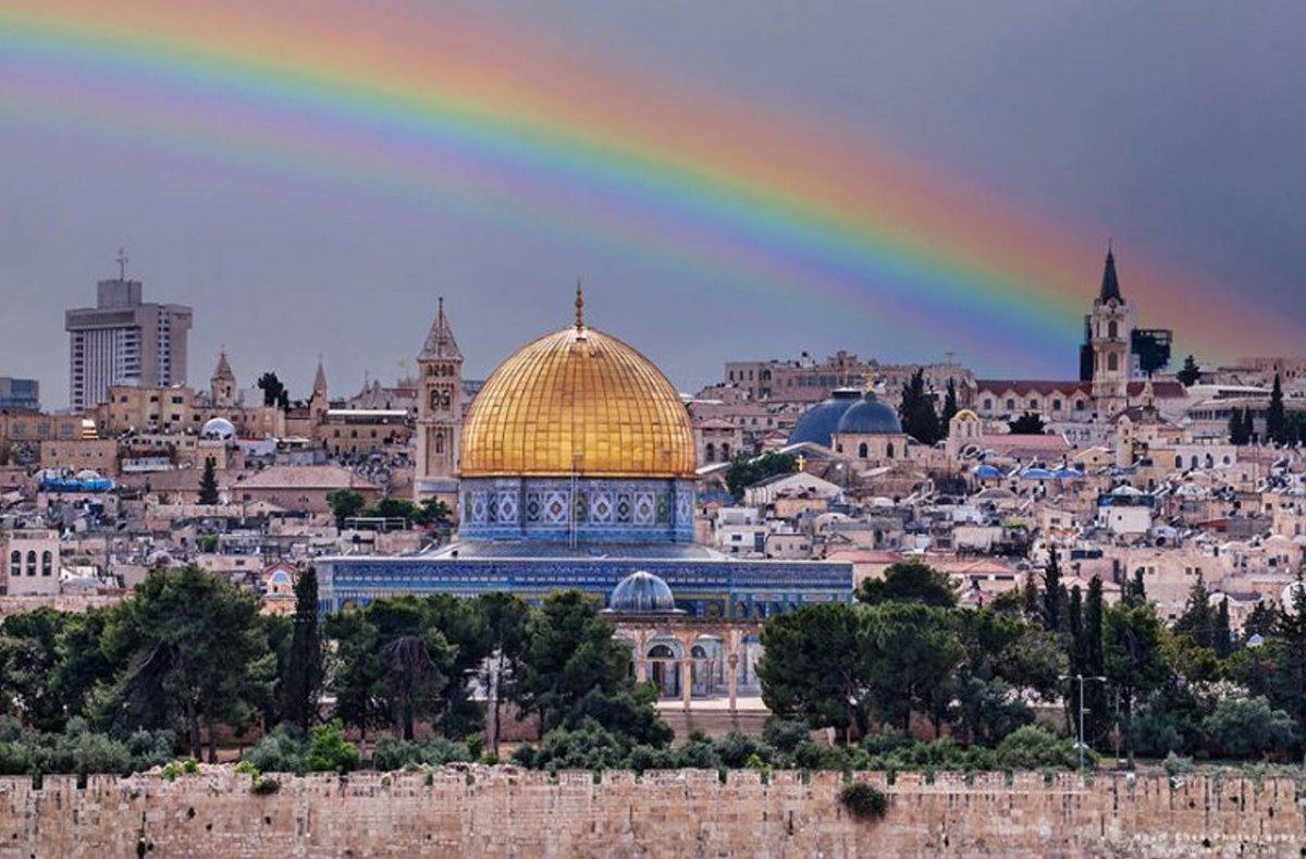 Ιερουσαλήμ πόλη με γοητεία υπέροχες φωτογραφίες από την πόλη το ηλιοβασίλεμα